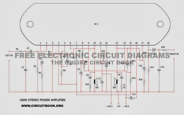 Amplifiers Circuit Diagram | 100w 50w 50w Stereo Power Amplifier Circuit Diagram Using Stk4191