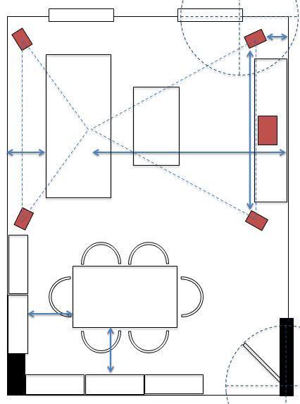 Schematische Darstellung Aufstellung Lautsprecher | aufstellung ...