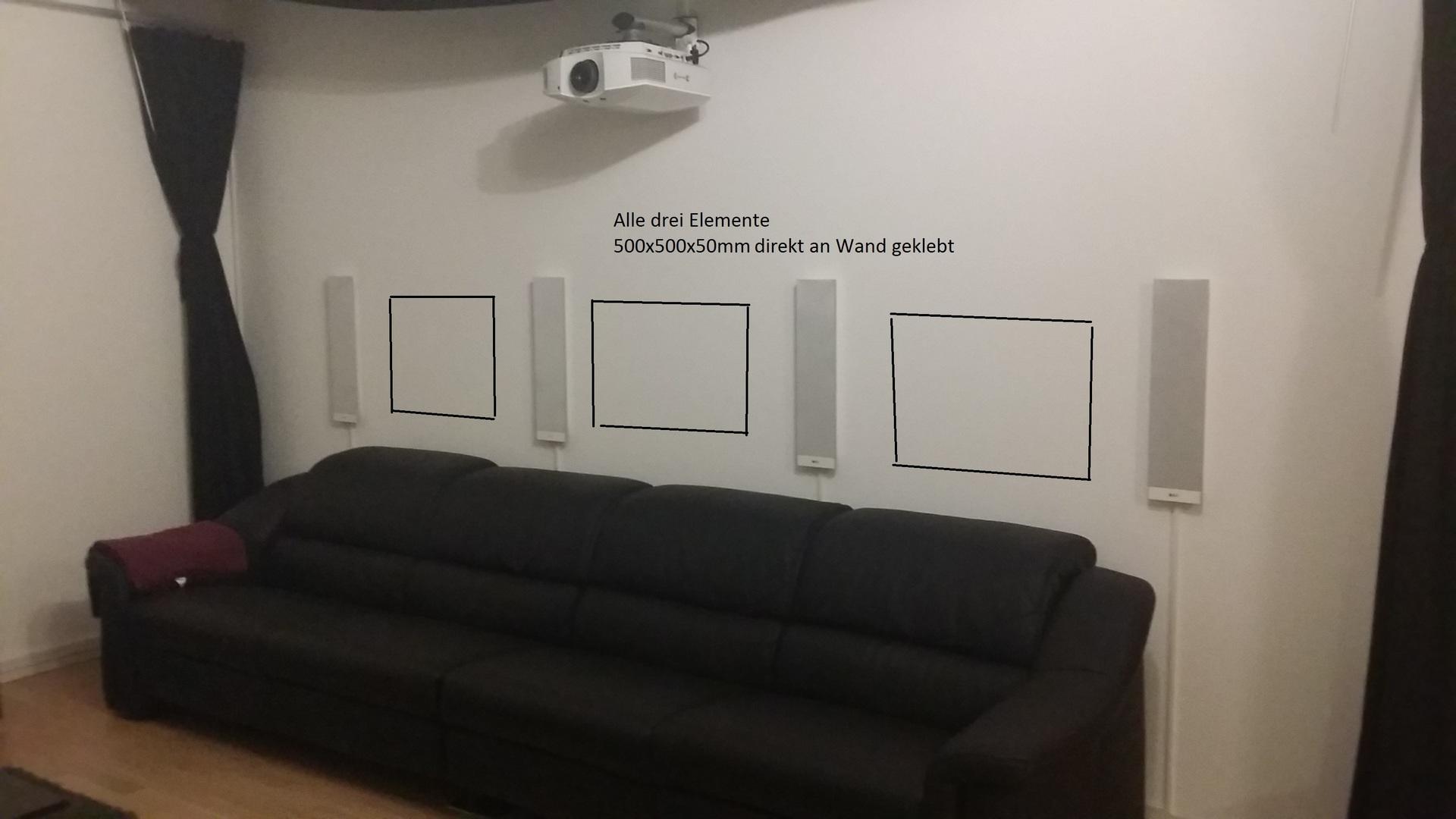 wohnzimmer k che akustik basotect hall heimkino k che wohnzimmer hifi. Black Bedroom Furniture Sets. Home Design Ideas