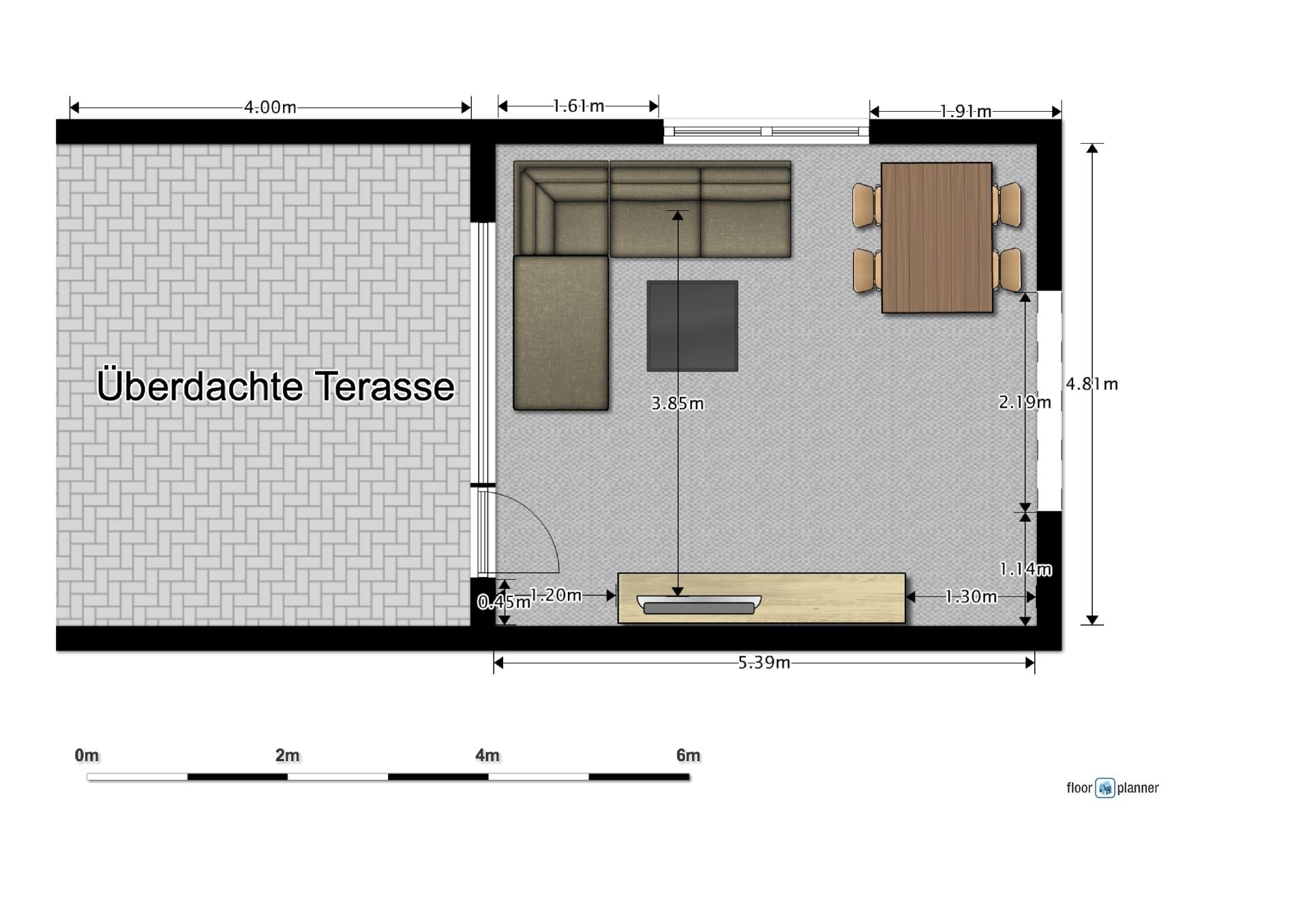 Grundriss Wohnzimmer und Terrasse | grundriss, terrasse, wohnzimmer ...