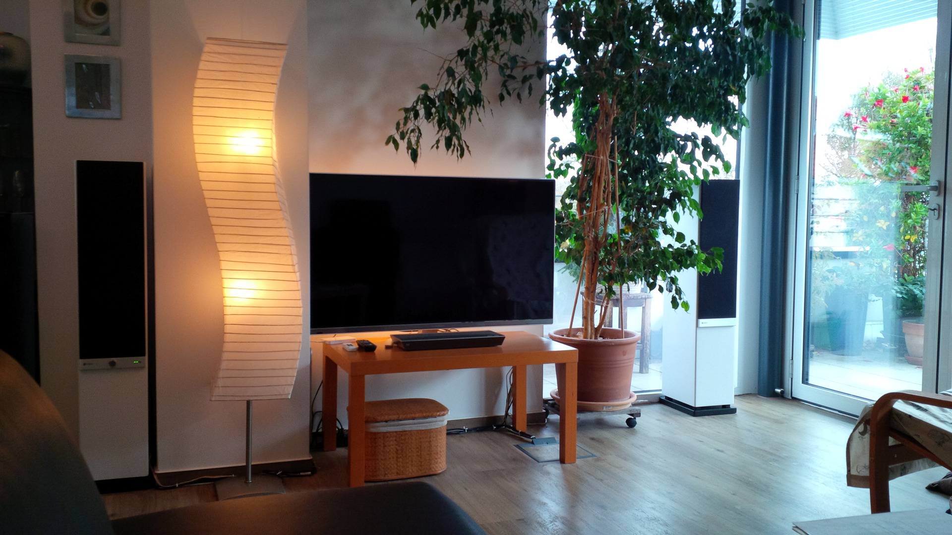 Raumfeld stereo l 2 multiroom raumfeld standlautsprecher stereo streaming hifi - Audio anlage wohnzimmer ...