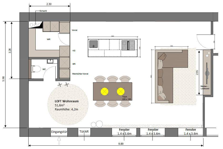 Grundriss wohnraum grundriss wohnraum hifi - Kochen essen wohnen ...