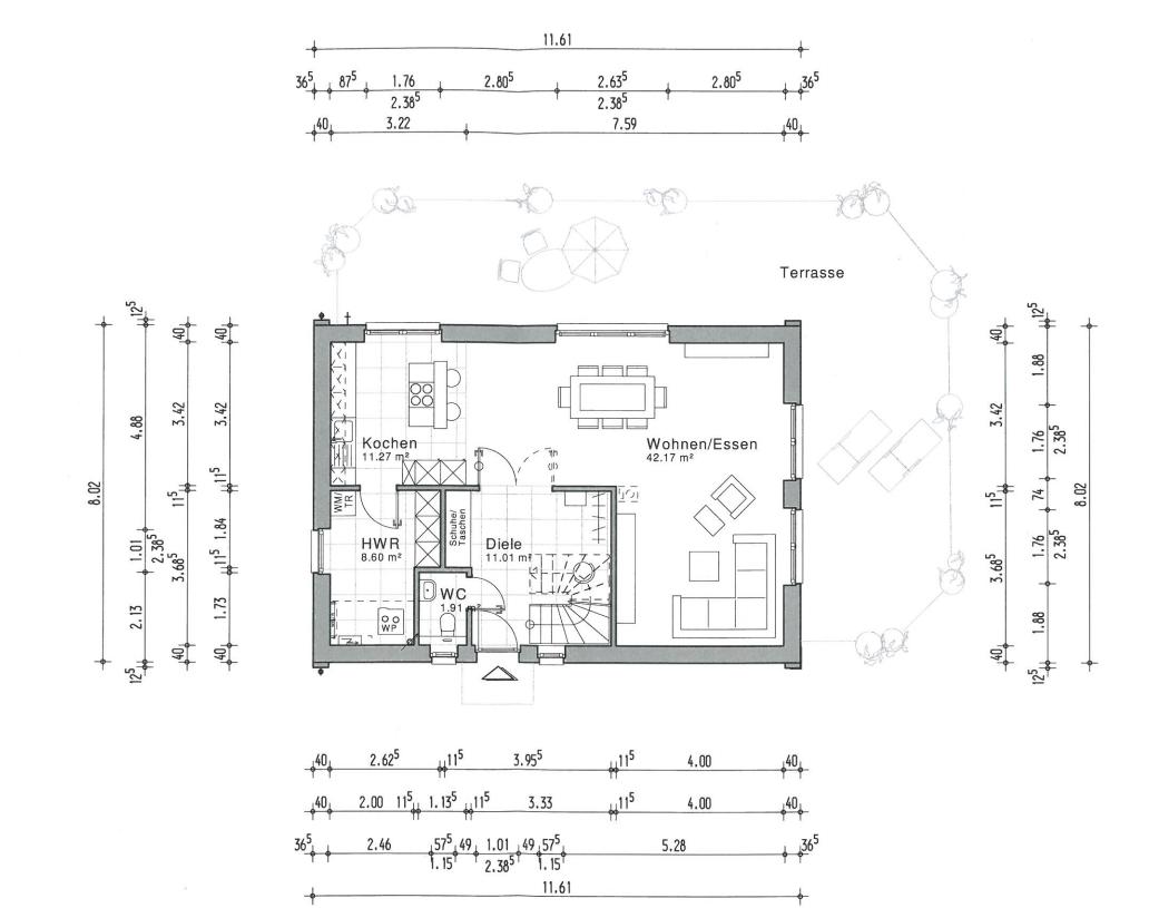 grundriss mit ma en grundriss ma en hifi. Black Bedroom Furniture Sets. Home Design Ideas