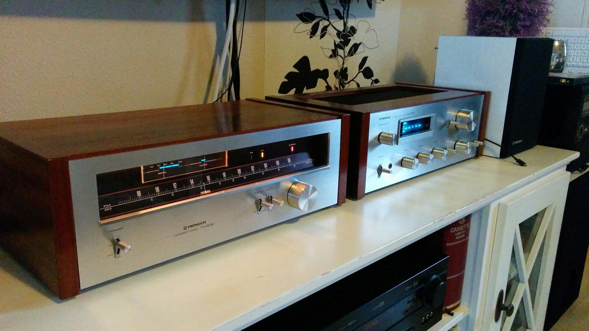 pioneer sa 508 pioneer tx 608 hifiklassiker pioneer sa508 stereo tuner tx608 verst rker. Black Bedroom Furniture Sets. Home Design Ideas