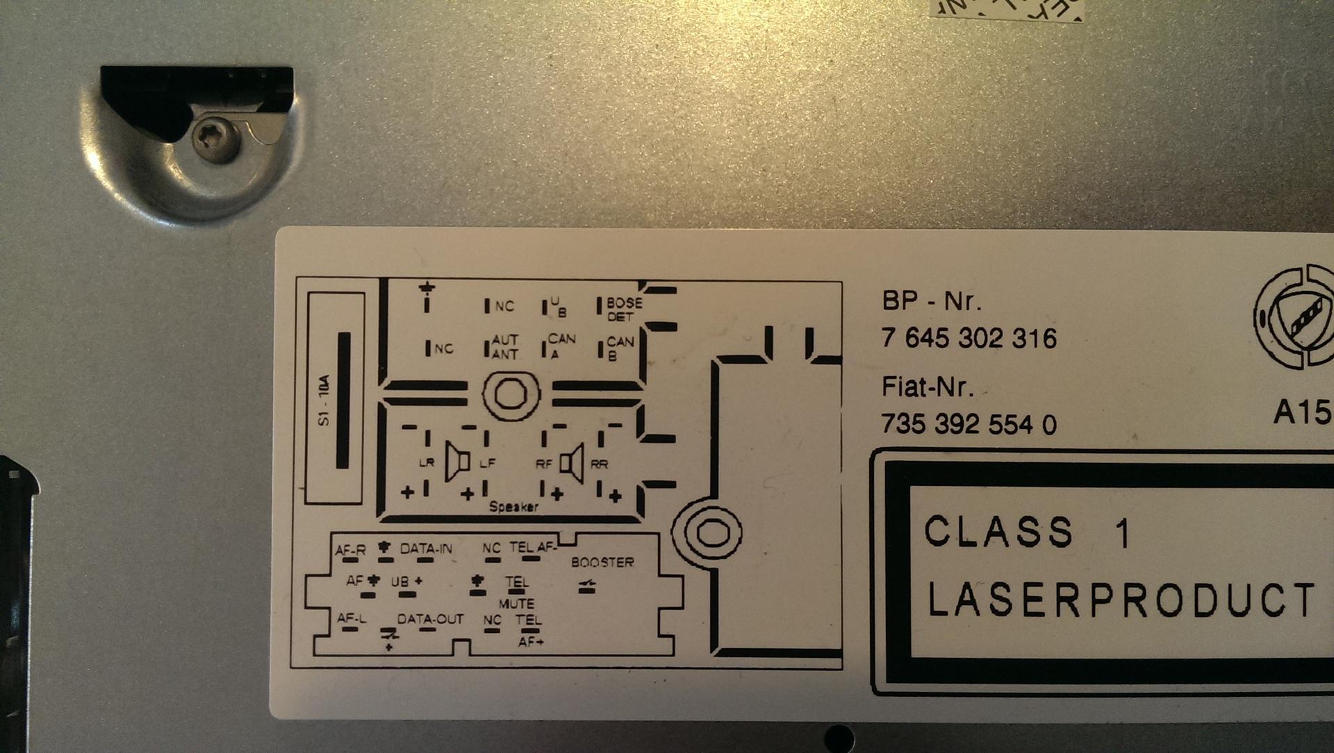 Verkabelung Lancia-Radio | anschluss, anschlüsse, autoradio ...