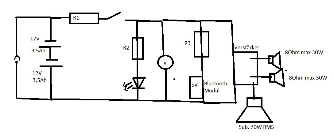 Funktioniert die mobile Lautsprecherbox (inkl. Schaltplan ...