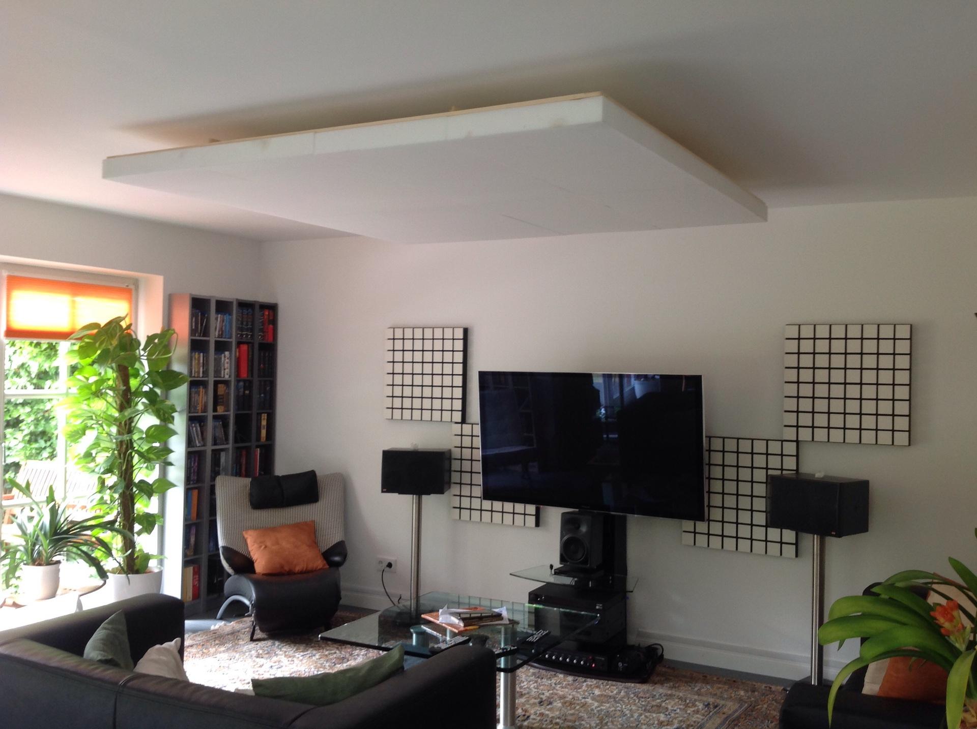 Pimp my Wohnzimmer.mit Selbstbau Deckensegel, Akustik - HIFI-FORUM