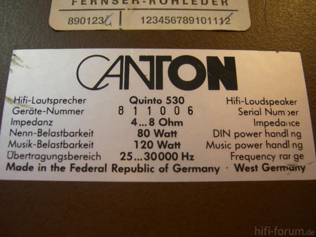 Canton Quinto 530