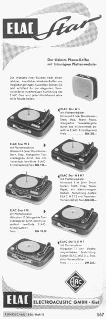 Elac Komplettprogramm 1956
