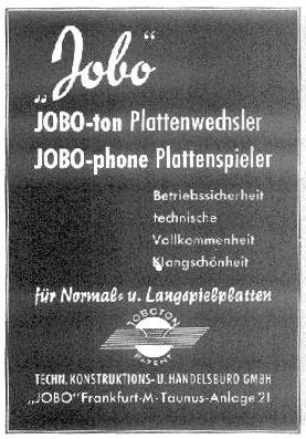 Jobo Werbung