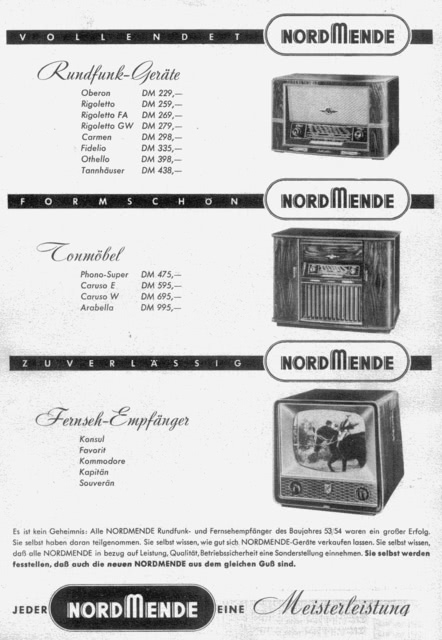 Nordmende Fidelio 55 Werbung