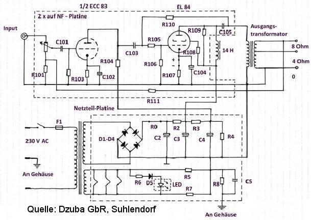 Pdf Stereo Parafeed Verstarker Mit Der El 84 Mkii Pdf Seiten