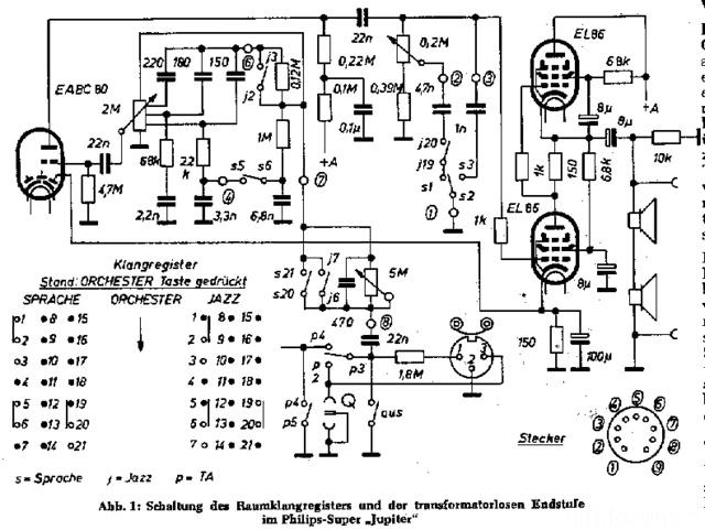 Philips Jupiter 463 NF Schaltung
