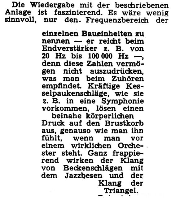 Siemens Kammermusikkombination Klangbeschreibung