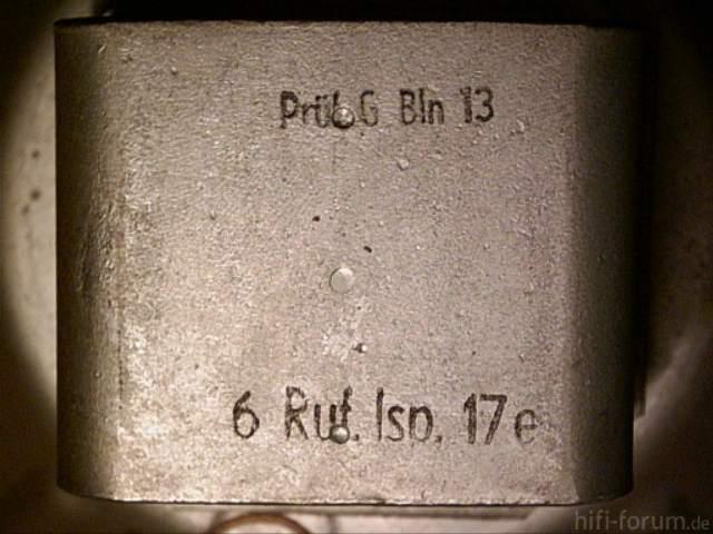 Siemens Schatulle M47 Lautsprecher Stempel Pruefstempel