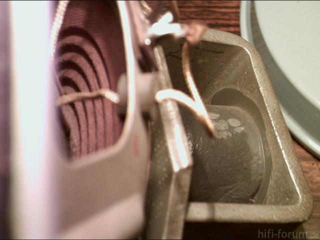 Siemens Schatulle M47 Lautsprecher Zentrierung