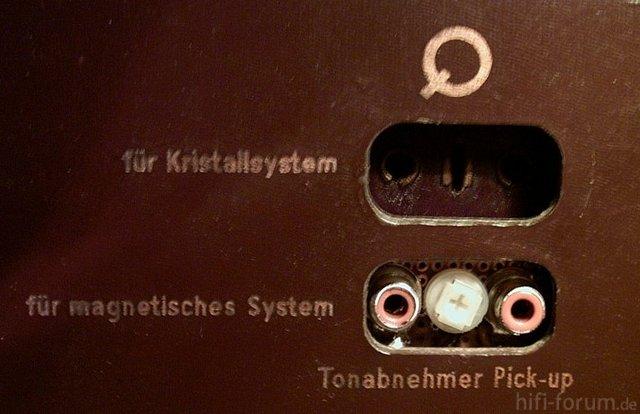 Siemens Schatulle M47 Tonabnehmer Anschluesse