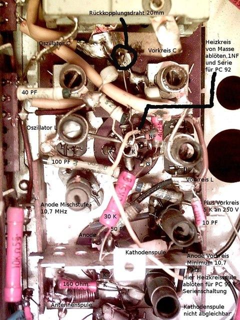Siemens Schatulle M47 UKW Baustein Offen
