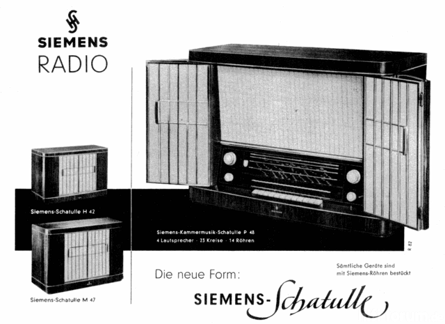 Siemens Schatulle Werbung 1955 - Webversion