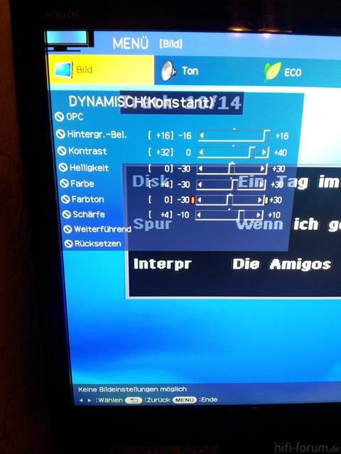 Bildeinstellung Nicht Möglich Bei HDMI1