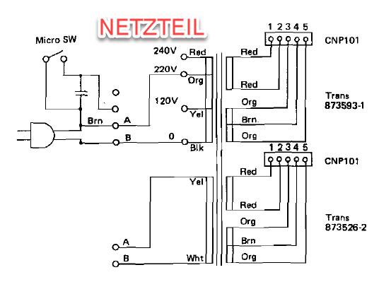 PD-290 Netzteil Schaltplan