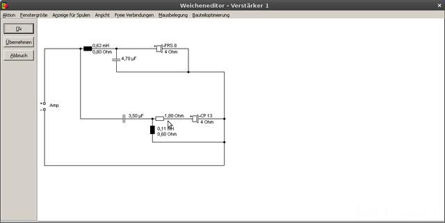 Bildschirmfoto Weicheneditor   Verstärker 1