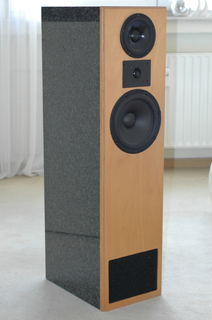 Standlautsprecher A.O.S Studio 80 TL, Granit / Buche ...