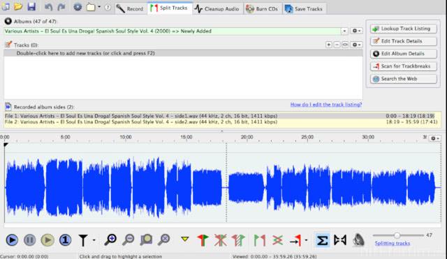 Vinylstudio 9  Waveform Grafik Erstellt