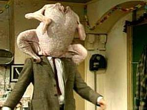 270995d1321960179 Thanksgiving Mit 2 Ganzen Puten Und 2 Ebenso Grossen Keulen Mr Bean Cooking Turkey