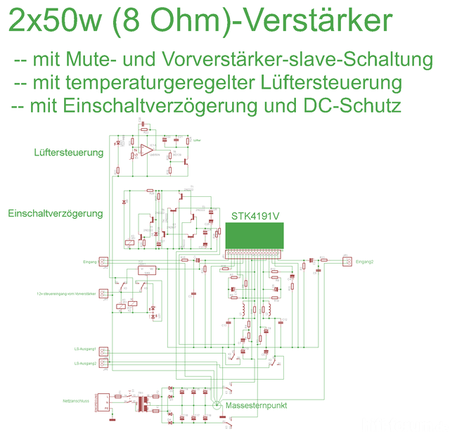 2x50w Amp Klein