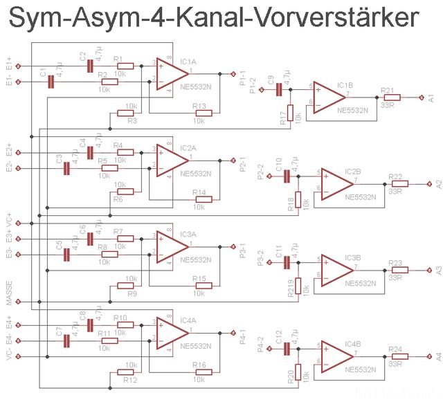 Sym-Asym-Vorverstärker im Eigenbau, Elektronik - HIFI-FORUM