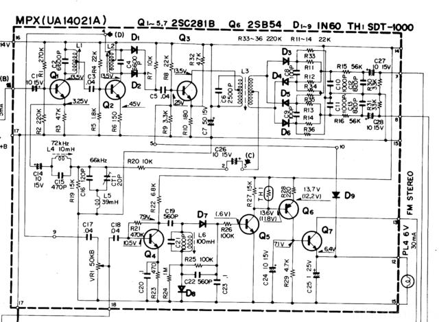 Auszug Schaltplan TK 40L
