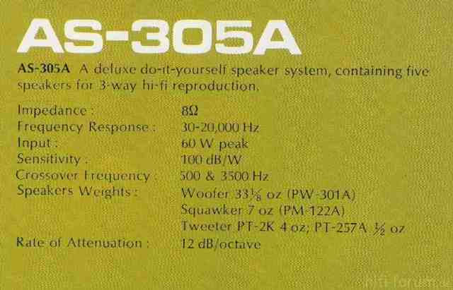 AS 305a Description