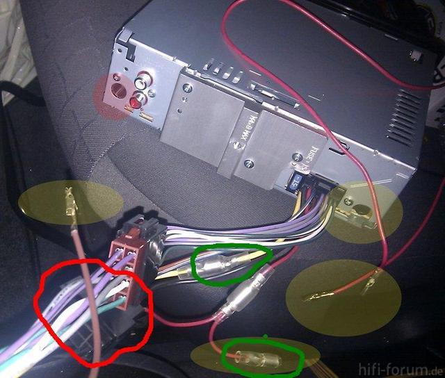 Kein Strom auf Autoradio - Wie müssen diese Anschlüsse dran?, Car ...