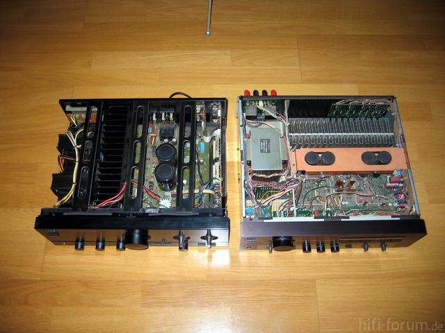 Kenwood KA-7020 Und Sony TA-F444ES Innenansicht