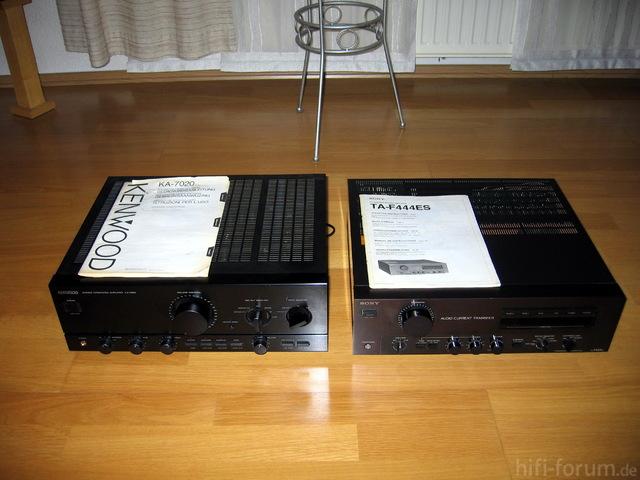 Kenwood KA-7020 Und Sony TA-F444ES