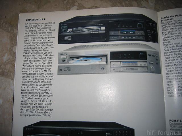 Sony CDP-501 im 85'er Katalog