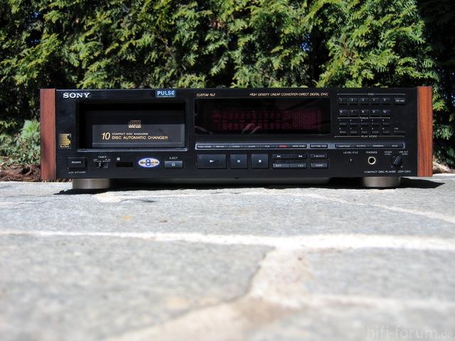 Sony CDP-C910 Holzseiten Nachbau