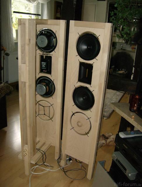 Sapol-Dipol/Offene Schallwand Front/hinten