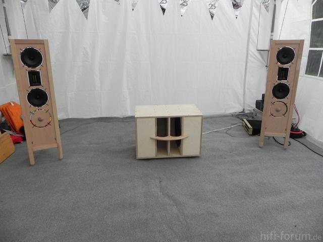 Sapol Offene Schallwand/Dipole+Dipol/Closed Subwoofer Version
