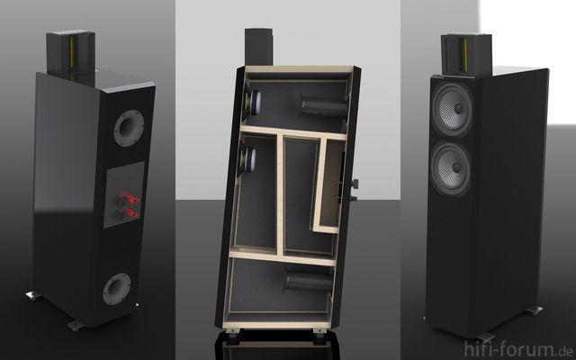 AMT-Lautsprecher, 3 Ansichten