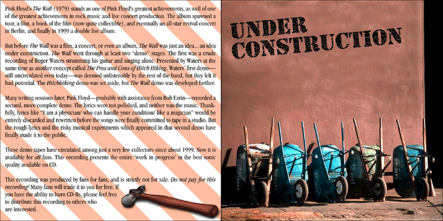 Pink Floyd - Under Construction front