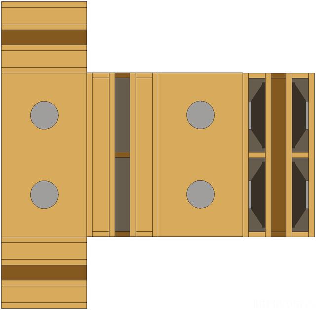 Doppel-Ripol, Papiermodell