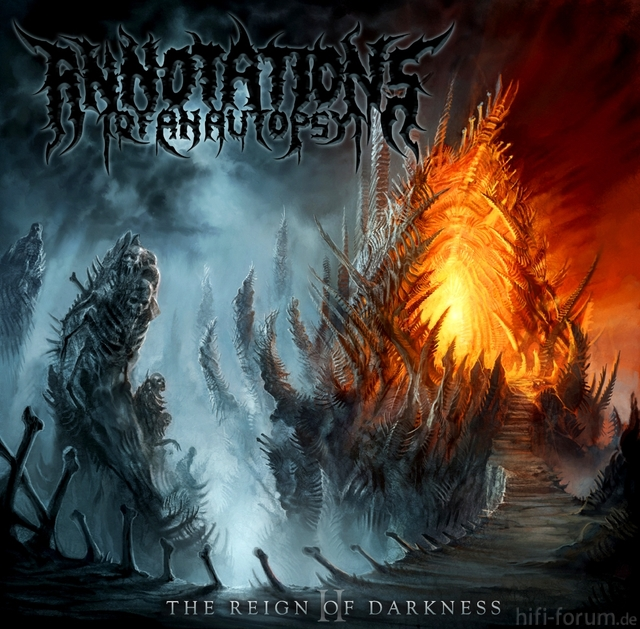 Annotations Of An Autopsy   The Reign Of Darkness Artwork