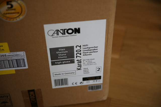 Canton Karat 720.2 *Highgloss- TITAN* Kompaktlautsprecher ...