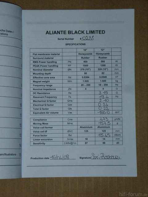 Aliante Black Edition 12""