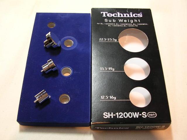 Zusatzgewichte für Technics Tonarme