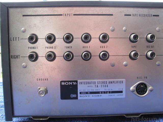 SonyTA 1144RückseiteLinks