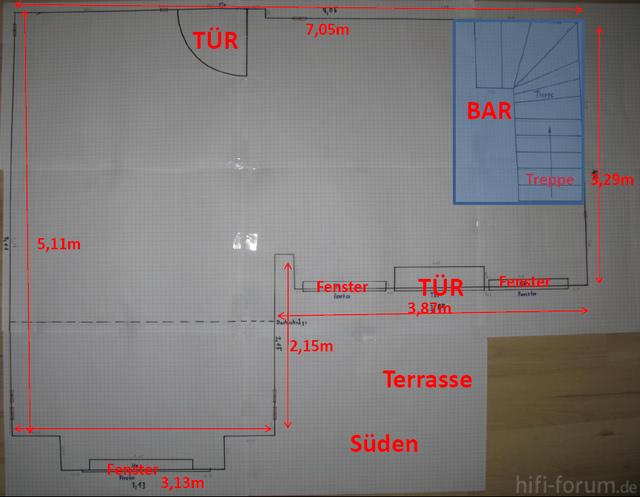 Zeichnung Wohnzimmer 2