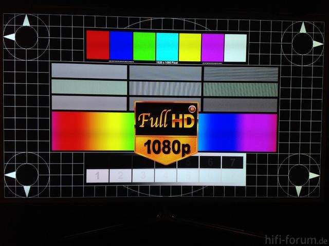 UE46ES6710 2D Testbild